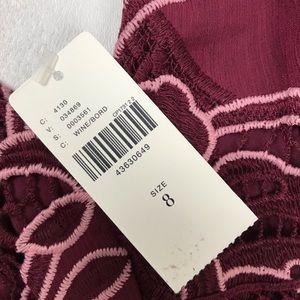 Anthropologie Dresses - Moulinette Soeurs wine embroidered dress